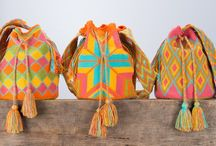 Wayuu Bags and People / Colourful, handwoven Wayuu bags, made by the indigenous Wayuu women from Colombia.