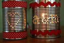 CAN do that / Cans up-cycled.  My mom has reused these for as long as I can remember 43+ years.  She was cool way before her time LOL / by Christina Blevins