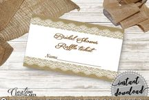 Bridal Shower Products in Burlap And Lace Theme, Invitations, Games, Decorations And More / Hi, thank you for visiting this beautiful bridal shower board with products in Burlap And Lace theme. Here, you'll find different invitations, games and activities, decorations and more with over 60 products in this theme.