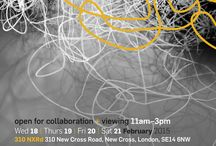 Mapping collaboration -  exploring rhizomatic creative practice / resources based on Exhibition @ 310 NXrd - New Cross Rd London SE14 6NW Wednesday18- Saturday 21st February 2015