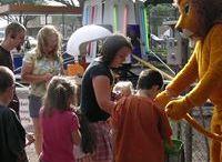Landon the Lion loves a party