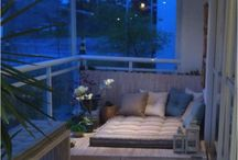 balcony and gardens