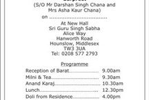 One pager Sikh wedding card words
