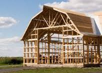 Barn style and other beam frame house ideas