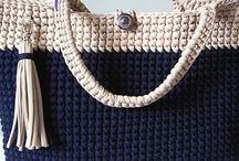 örgü çantalar sepetler
