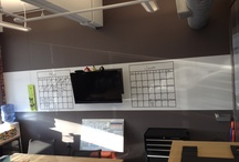 White Boards/Chalk Boards / In the war room, with a white board, at the station....