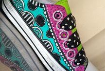 Festett vászoncipő