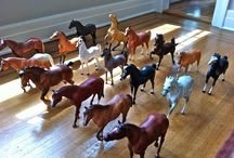 Breyer horses / I absolutely love these things I have them All over  of my room.