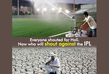 save water / #SaveWater This is for those who called for water-less Holi.. Severely drought hit Maharastra will host 16 games. Each week need at least 3,00,000 lit of water for the grass & pitches just for the ground maintenance.. Any thought of saying no IPL in Maharashtra Do you agree??? #AntimTotla #IPL