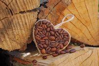 srdiečko z kávy