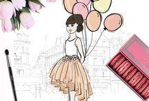 Plume de mode illustrations