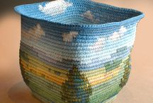 floreros a crochet
