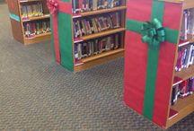 Xmas school library display