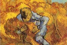 Vincent Van Gogh...public domain /  1853 –1890, a post-Impressionist Dutch painter whose work had a far-reaching influence on 20th-century art.  He produced more than 2,100 artworks. He began to sketch people while he was a missionary in a mining region in Belgium. Later he moved to France, where he discovered the French Impressionists and was influenced by the strong sunlight. After years of bouts of mental illness, he died aged 37 from a gunshot wound, generally accepted to be self-inflicted (although no gun was ever found).  / by Sonja Hannon