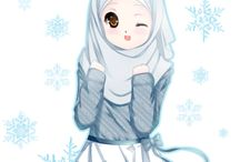 cute hijab cartoon