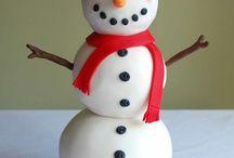 Nana nanas snowman cake ideas