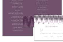 Chevron Pattern Wedding Stationery