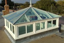 Roof lanterns with vertical side frames / Make a real design statement with a roof lantern with side frames.