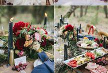 Navy burgundy wedding