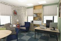 Design interior office – Birou in stil retro-metropolitan