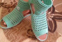 papuci croșetați