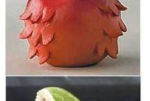 Украшение стола фруктами