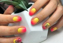 Pineapple Nail Designs | Маникюр с ананасами