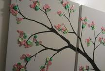 Button wall canvas