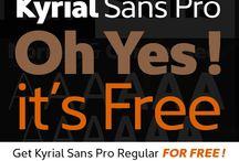 Get Kyrial Sans Pro Regular FOR FREE ! / Get Kyrial Sans Pro Regular FOR FREE ! How? Just like our page on Facebook. https://www.facebook.com/mostardesignstudio?v=app_220150904689418