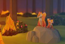Polygons and More 3D / Chill kunst laget i Blender og sånt.