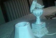 Lampara shabby chic / Shabby chic lamp