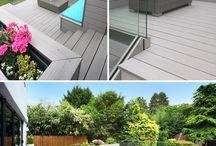 Grey Decking / Gorgeous grey decking - a popular choice for a perfect garden deck!