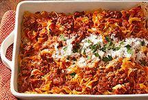 Main Meal Casseroles / by Rachel Humphrey