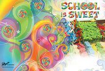 4 Elementary Yearbooks