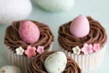 Easter bakings / Easter cakes, cookies, breads, marzipan figures...