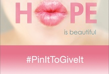 Pin It to Give It / Elizabeth Arden's 'Pin It To Give It' campaign to help women in the fight against cancer - for every image repinned in this Board using the hashtag #PinItToGiveIt Elizabeth Arden will donate one eyeliner (up to 10,000 total products) to charitable partner Look Good Feel Better. Look Good Feel Better is a non-medical, brand-neutral public service program that is dedicated to improving the self-esteem and quality of life of people undergoing treatment for cancer. www.lookgoodfeelbetter.org / by HairWeavon