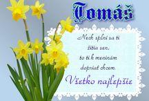 blahoželania meniny tomas