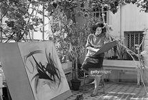 artist Thelma Hulbert / Images of artist Thelma Hulbert (1913-1995) at work
