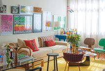 Dining and living rooms / by Gê Visacri of Casa da Gê