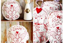 embroidery / simple naïve stitching, specialty stitching, ribbon embroidery