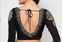 A stitch in time / Saree blouse/ choli + Kurti designs