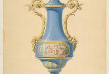 Láminas dibujos decoración clásica