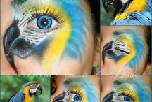 face painting bird