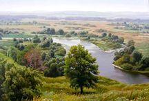 река в поле