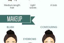 Maquillajes y Acc. según rostro