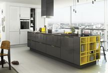 Colour Injection / Kitchens using bright colours to make a statement.