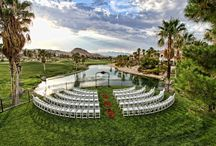 Las Vegas Wedding Venues / Vegas has a wedding venue for every type of bride. Want to get married on a beach? How about a snowy mountain ski resort? stunning golf courses? Botanical gardens? The list goes on...