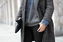 Многослойность / Сочетание платьев на бретелях и водолазок, пиджак на джинсовую куртку и т.п.