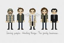 Tv series cross stitch / hama beads