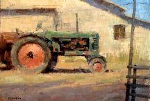 Paintings: farm.